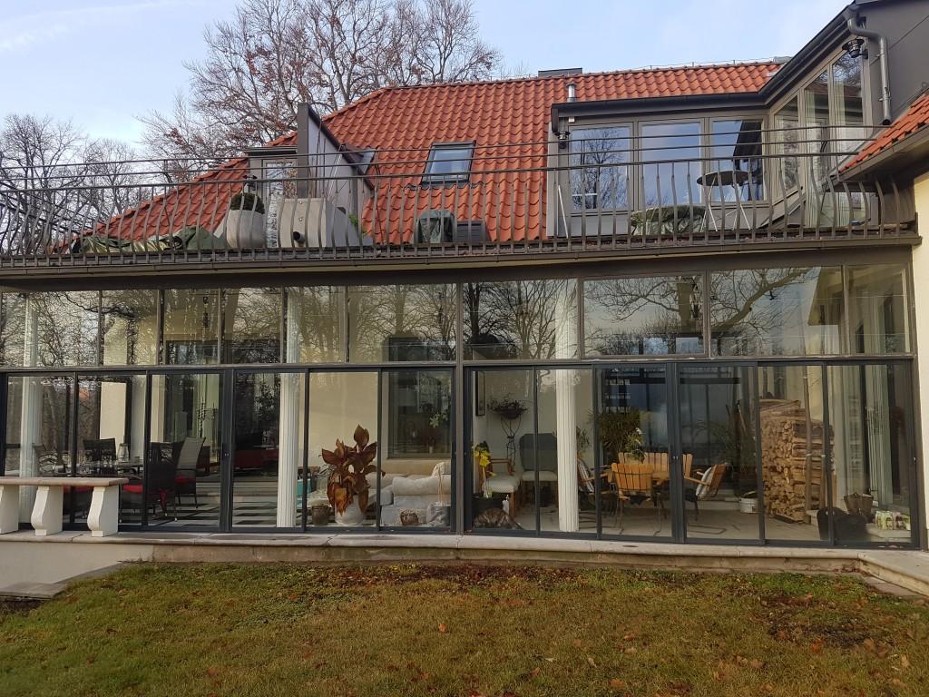 Inglasade verandor till Lgh1 & Gemensamt utrymme