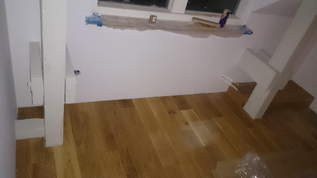 Lite finlir med inbyggnad av golvreglar